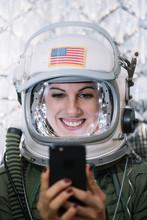 Beautiful Female Astronaut Wit...
