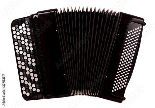 Fotomural  button accordion - close up