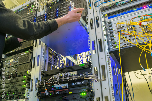 Photographie Server maintenance in the data center