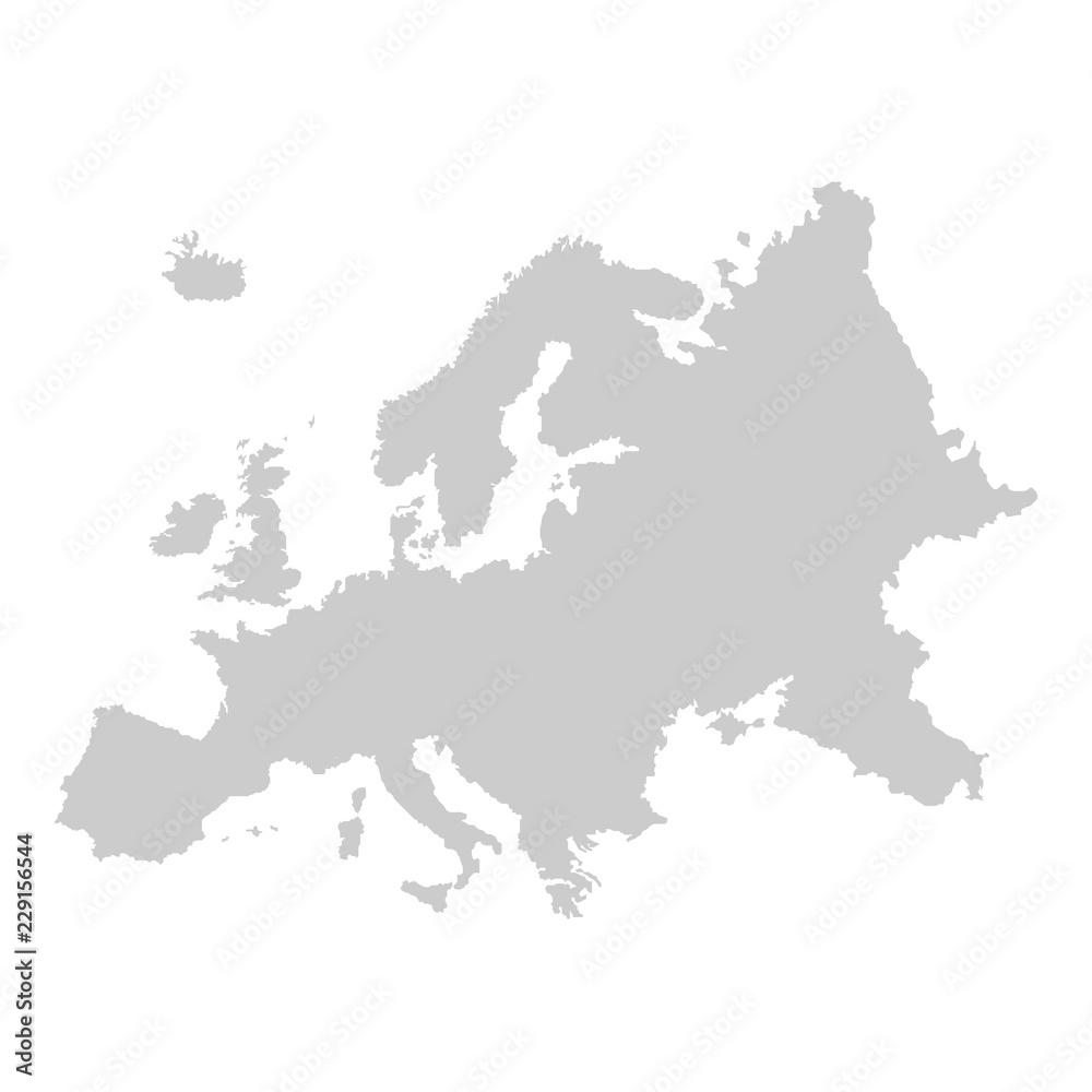 Fototapeta Detailed vector map of Europe
