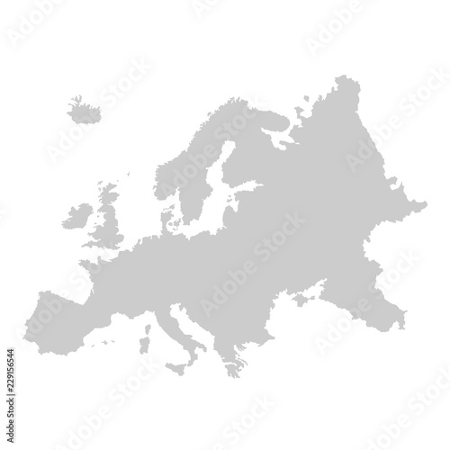 Detailed vector map of Europe Canvas