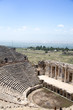 Ancient city of Hierapolis, Pamukkale, Turkey. The fascinating and beautiful beauty of the historical sites is here. Hierapolis of Phrygia, Denizli, Turkey