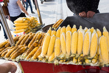 Fresh Boiled And Roasted Corn ...