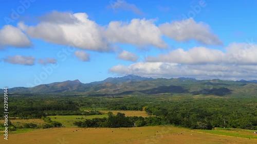 Fotografija  Valley of the Sugar Mills (Spanish: Valle de los Ingenios) close to Trinidad, Sa