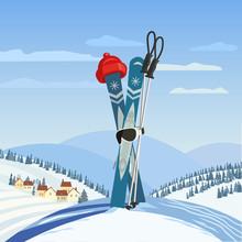Fancy Winter Poster. Cute Comi...