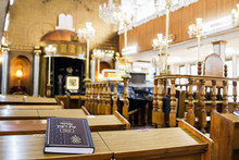 The Interior Of The Synagogue Brahat Ha-levana In Bnei Brak . Israel.