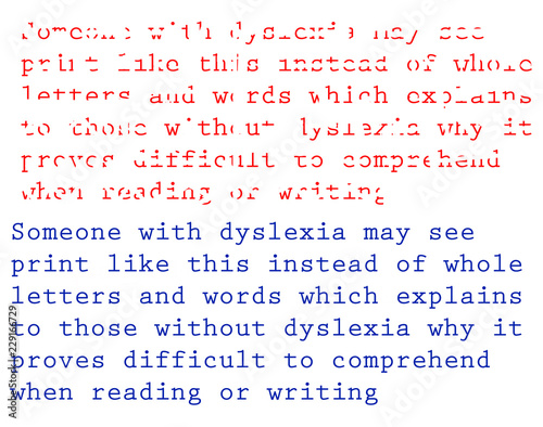 Valokuva  Dyslexia Example and description
