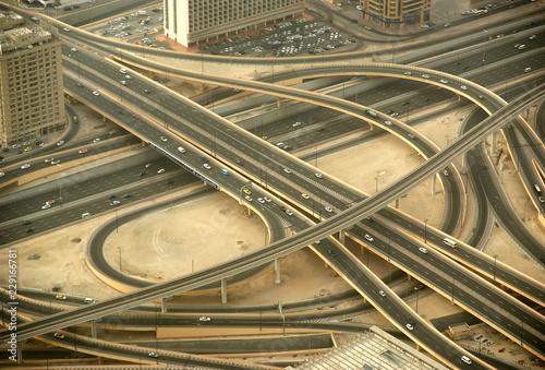 Photo  Dubai, UAE. Aerial view from the height of Burj Khalifa