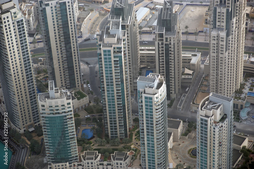 Dubai, UAE  Aerial view from the height of Burj Khalifa - Buy this