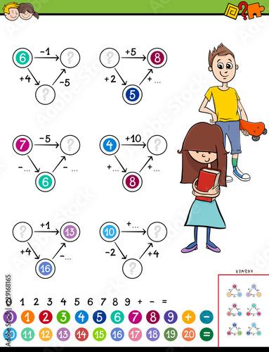 Fotografia  maths calculation educational game for kids