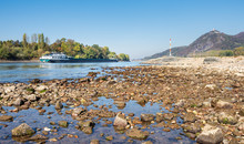 Vessel On River Rhine With Low...