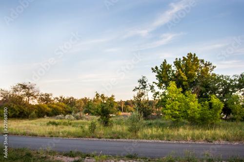 Foto op Aluminium Blauwe hemel rural landscape
