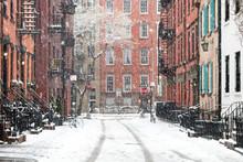 Snowy Winter Scene On Gay Stre...