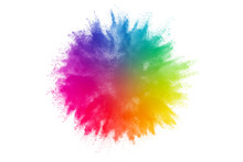Colorful Powder Explosion On W...