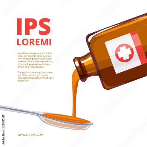 Valokuva  Liquid medicine in a spoon