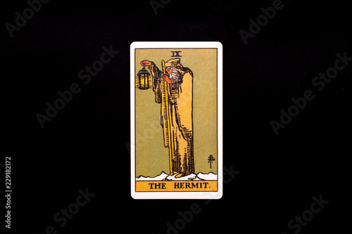 An individual major arcana tarot card isolated on black background Canvas Print
