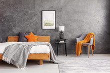 Grey And Orange Accents In Sim...