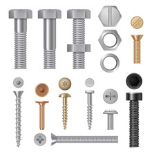Steel Screws Bolts. Vise Rivet...