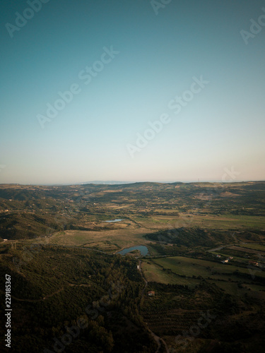Foto op Canvas Zwart mountain aerial landscape