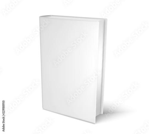 Obraz na plátně  Mockup blank book, template for design. Vector illustartion