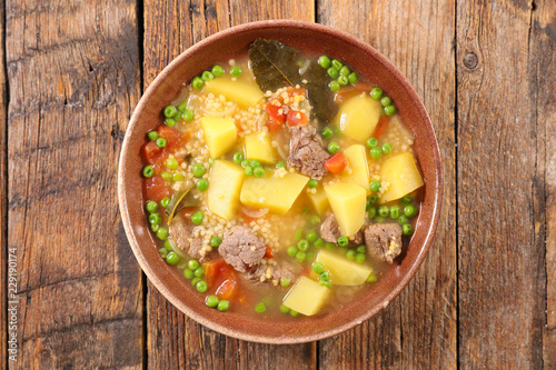 beef soup with vegetable