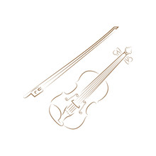 Violin Logo Icon Design Template Vector