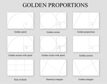 Golden Proportions Set . Golde...