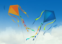 Illustration Of Two Kites In T...