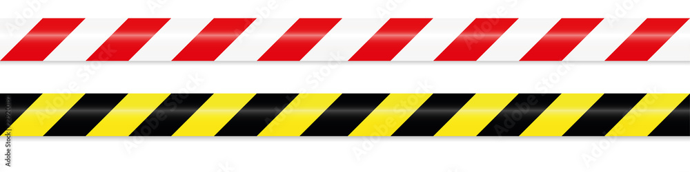 Fototapeta warning tape red white and yellow black