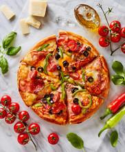 Italian Pizza With Fresh Ingre...
