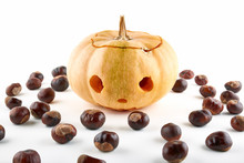 Halloween Pumpkin And Chestnut...