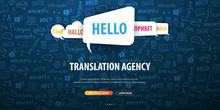 Language Translator Banner Wit...