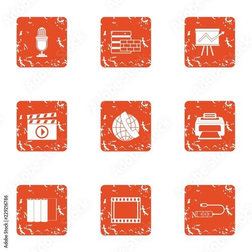 Fotografija  Videotape icons set
