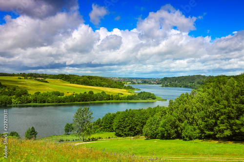 Fototapeta Kaszuby-widok z Ręboszewa na jezioro Brodno Małe obraz na płótnie