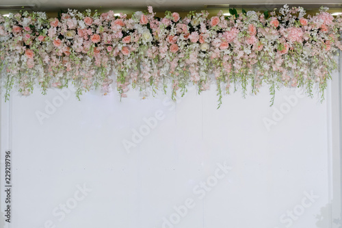Foto op Canvas Bloemen wedding backdrop with flower