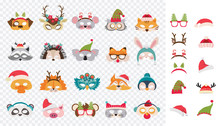 Collection Of Winter Animal Ma...