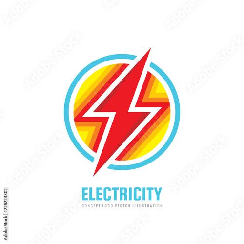 Lightning - vector business logo template concept