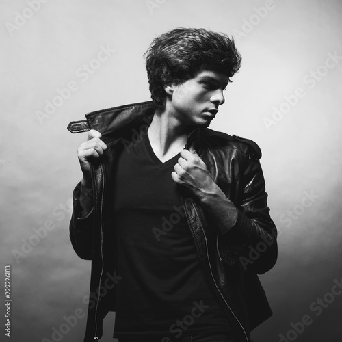 Fotografie, Obraz  Portrait of Handsome Young Man