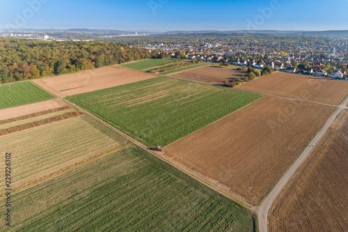 Blicküber die Felder nach Stuttgart