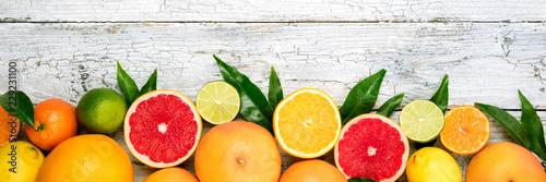 Foto Citrus fruits background