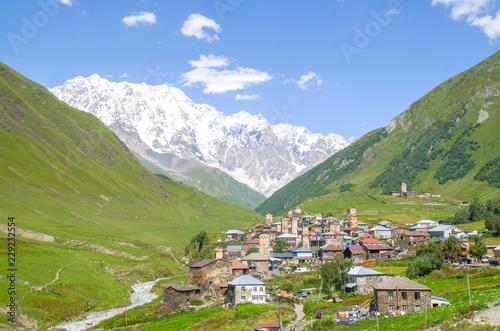 Papiers peints Con. ancienne Svaneti tower houses in Ushguli in Caucasus , Georgia
