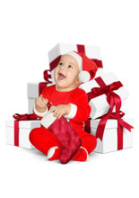 Funny Little Baby Santa Claus ...