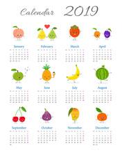 Funny Annual Fruit Calendar 2019