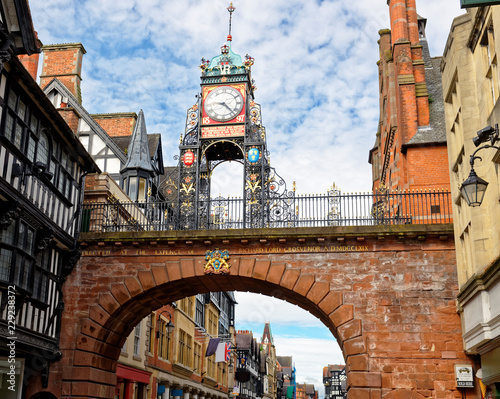 Famous clock on Eastgate in Chester, England, which was erected (at the site of Canvas-taulu