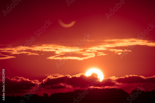 Big sun at sunset