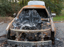 Burned Out Car From The Front