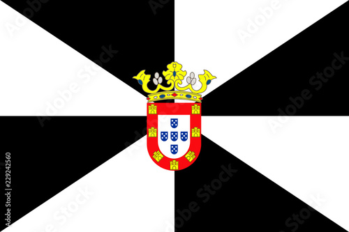 Flag of Ceuta. Vector illustration. World flag