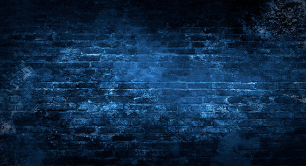 Pusty tło stary ściana z cegieł, tło, neonowy światło