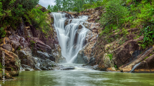 Canvas Prints Forest river Big Rock Falls