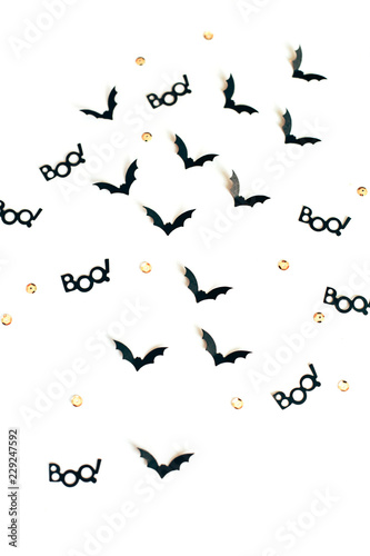 Halloween confetti with bats and boo Canvas-taulu